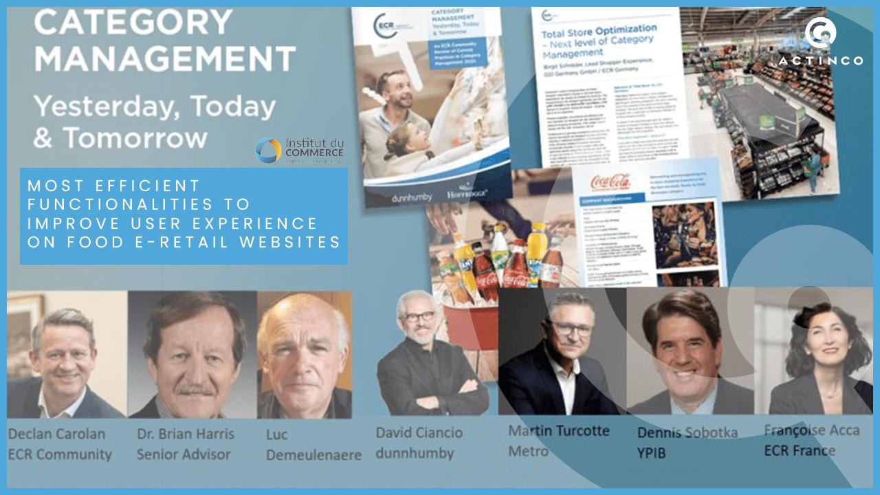 Présentation des intervenants à la conférence portant sur le Category Management d'hier, d'aujourd'hui et de demain.
